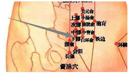下髎穴→治腹痛、便秘