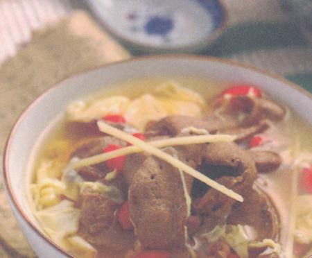 猪肝枸杞蛋汤(春分养生)
