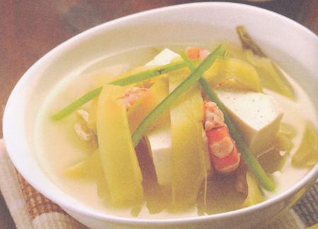 虾仁酸菜豆腐汤(立冬养生药膳)