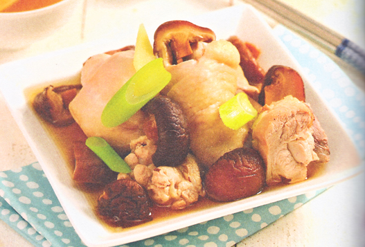小寒养生药膳:蒸香菇鸡