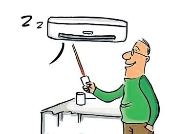 中医提醒:对着空调吹易得面瘫