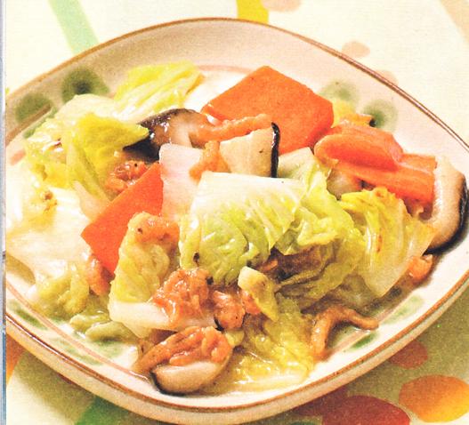 产后美颜月子食谱:开洋白菜