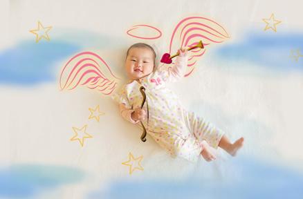 想象未来宝宝的模样