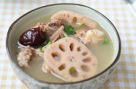 大枣莲藕猪骨汤 补益脾胃开胃消食
