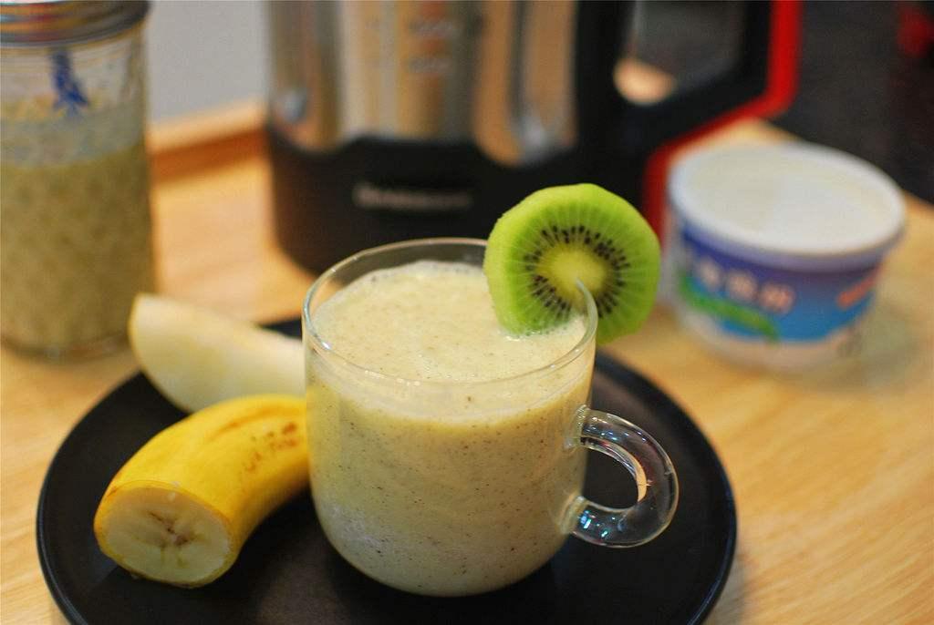 孕前营养食谱-猕猴桃香蕉汁