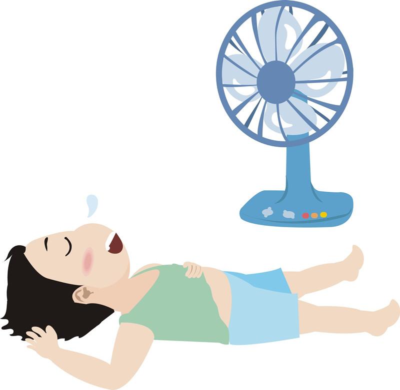 夏季睡觉足底迎风危害大