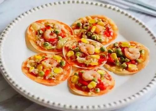 补钙益脑儿童营养早餐饺子皮披萨