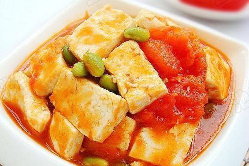 西红柿炒豆腐-孕妇清淡食谱