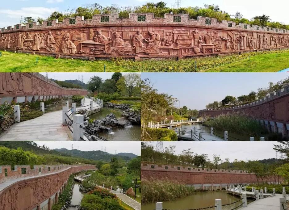 中医药历史文化浮雕景观长廊
