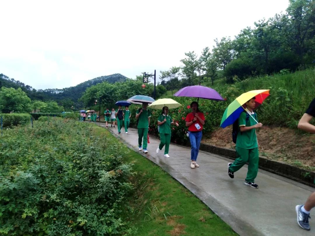 同学们在国医园和百草园参观、学习