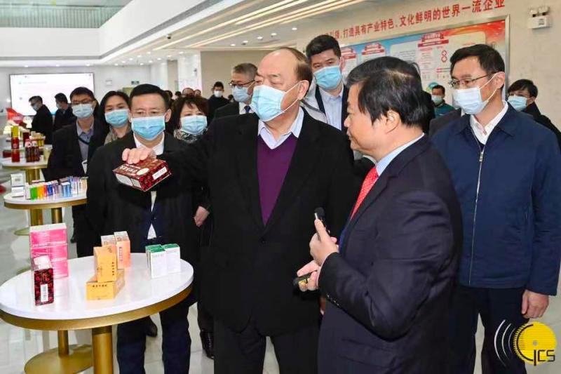 澳门特别行政区行政长官贺一诚考察广东中医药产业机构